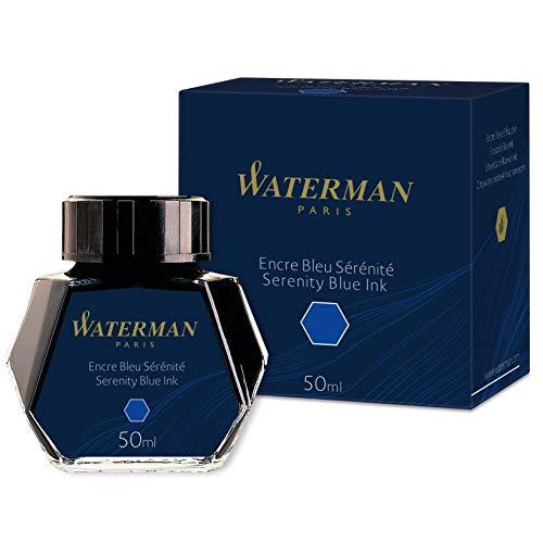 Waterman S0110720 Füllfederhaltertinte im 50 ml Tintenfass serenity blue